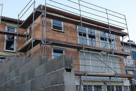 Bauleitung auf Baustelle