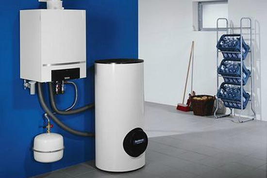 Gasheizung oder Gastherme mit Brennwerttechnik